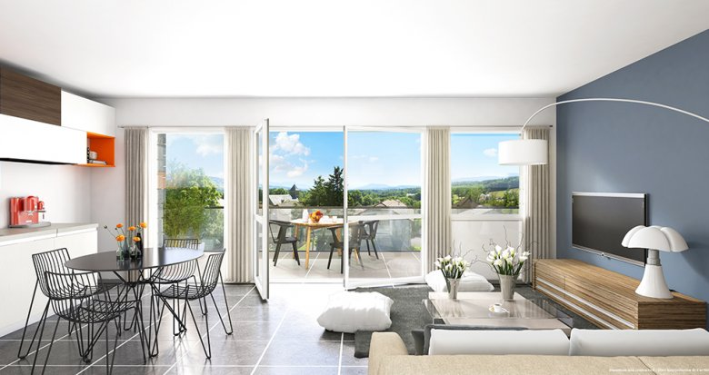Achat / Vente appartement neuf Copponex proche Genève (74350) - Réf. 1424